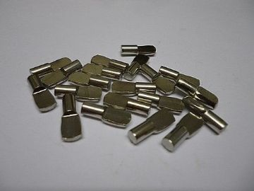 NEW Pack of 40x5mm NICKEL SILVER  FINISH SHELF SUPPORT STUDS HAFELE  100kg load